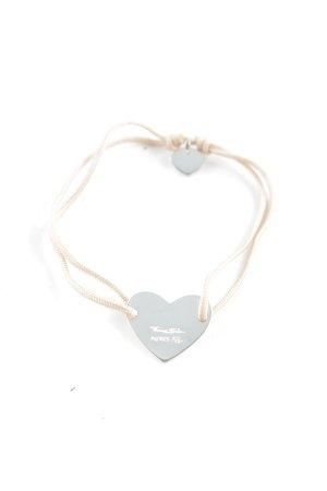 Thomas Sabo Armband zilver-stoffig roze Herzmuster romantische stijl