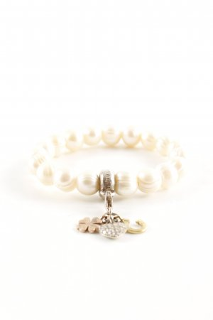 Thomas Sabo Armband weiß-goldfarben Casual-Look