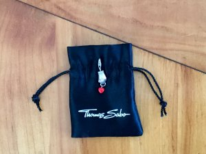 Thomas Sabo Hanger zilver-donkerrood