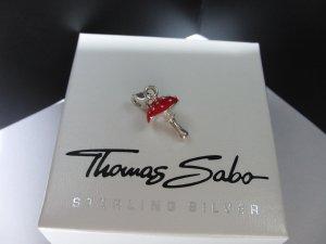 Thomas Sabo Pendente argento-rosso Argento