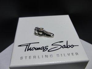 Thomas Sabo Colgante negro-color plata plata verdadero