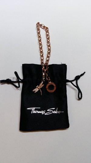 Thomas Sabo Charm Armband rosegold mit Charm Anhänger rosegold Libelle