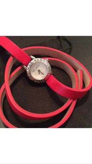 Thomas Sabo Charm Club Watch Uhr rot Leder - SELTEN!
