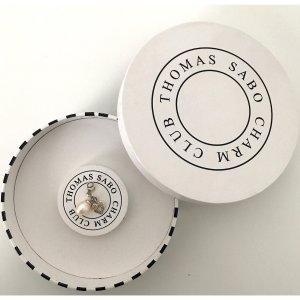 Thomas Sabo Ciondolo argento-bianco sporco Argento
