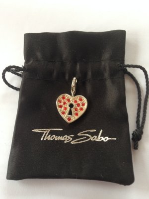 Thomas Sabo Charm silver-colored-brick red real silver