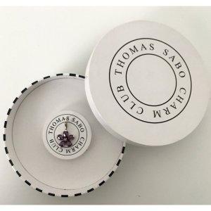 Thomas Sabo Charm lilac-silver-colored real silver