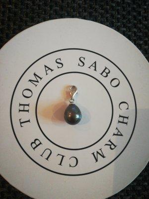 Thomas Sabo Charm Perle anthrazit