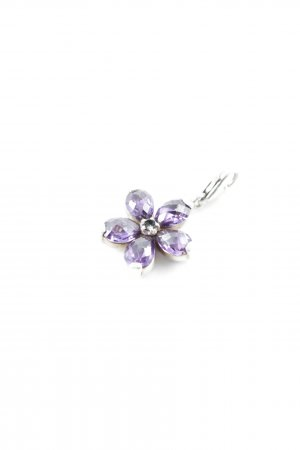 Thomas Sabo Charm silver-colored-dark violet flower pattern casual look