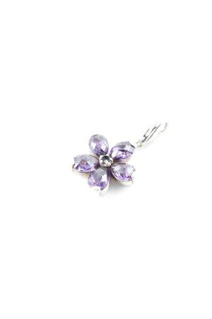 Thomas Sabo Ciondolo argento-viola scuro motivo floreale stile casual