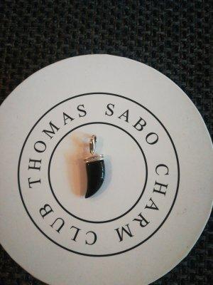 Thomas Sabo Charm Zahn in schwarz mit Steinen