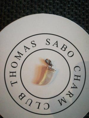 Thomas Sabo Charm Zahn weiß mit Steinchen