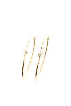 Thomas Sabo Ear Hoops gold-colored Rhinestone ornaments