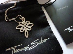 Thomas Sabo Damen-Anhänger 925 Silber Zirkonia weiß Infinity Love Knot Anhänger