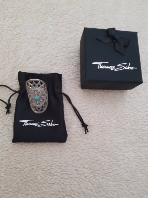 Thomas Sabo Silver Chain silver-colored-turquoise real silver