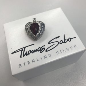 Thomas Sabo Pendant dark red-silver-colored