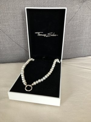 Thomas Sabo Parelketting wolwit-wit