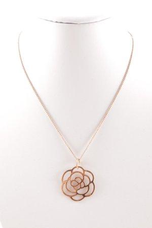Thomas Sabo Halskette roségoldfarben Blumenmuster Casual-Look