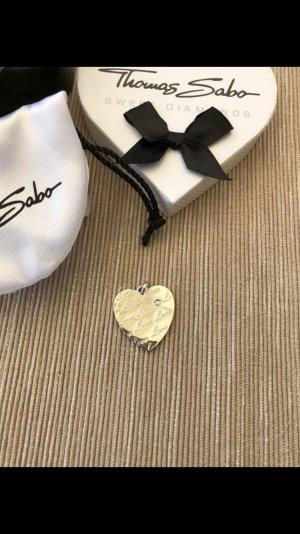 Thomas Sabo Herz Anhänger Diamant 925 Sterling Silber Kette