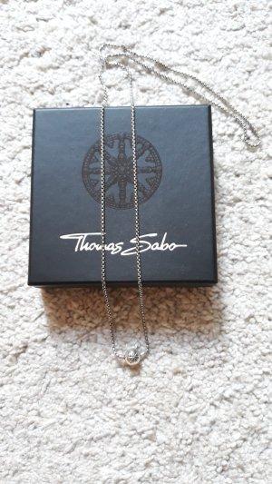 Thomas Sabo Collier gris clair argent