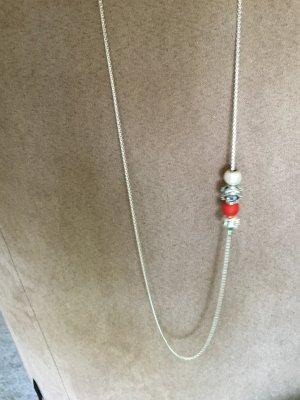 Thomas Sabo Zilveren ketting wit-rood Zilver