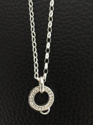 Thomas Sabo Kette 925 Silber 70 cm mit Charmträger mit zirkonia Steinen Neu