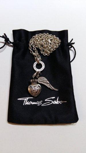 Thomas Sabo Kette mit 2 Anhängern Herz-Krone und Engelflügel