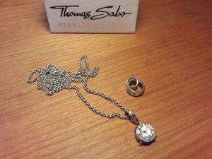 Thomas Sabo Kette Silber mit Anhänger und Zwischenstück