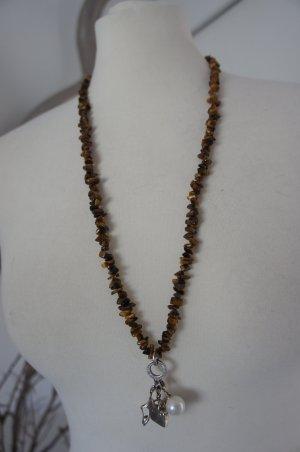 Thomas Sabo Necklace black brown real silver