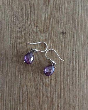 Thomas Sabo Silver Earrings blue violet
