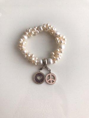 Thomas Sabo Original Perlen Armband inklusive 2 Charm Anhänger