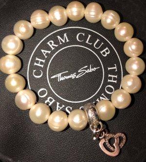 Thomas Sabo Bracciale di perle bianco-color oro rosa