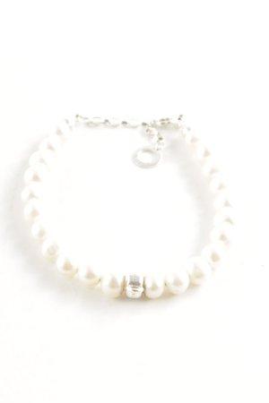 Thomas Sabo Brazalete de perlas blanco elegante
