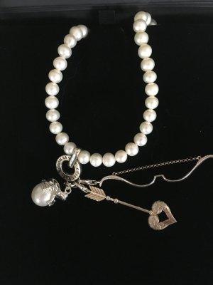 Thomas Sabo Perlenkette mit Anhänger Pfeil/Bogen -Neu