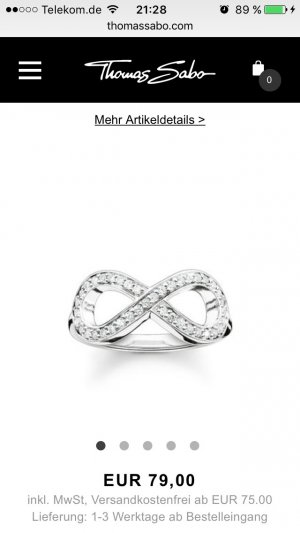 "Thomas Sabo Ring ""eternity of Love"""