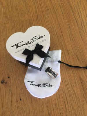 "Thomas Sabo Ring Eternityring ""Classic Schwarz"" Gr.60"