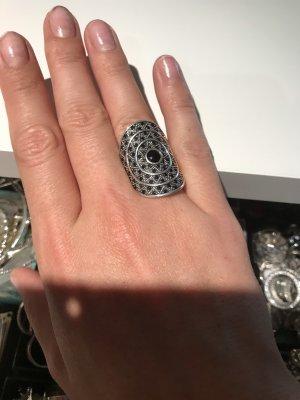 Thomas Sabo Zilveren ring zwart-zilver