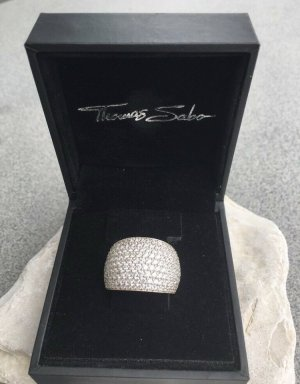 Thomas Sabo Anillo de plata color plata