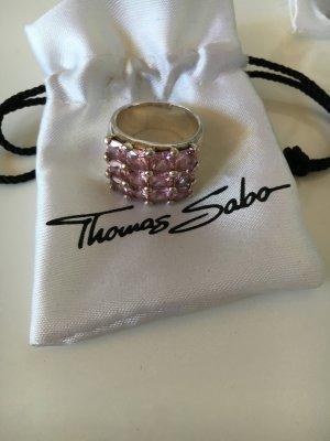 Thomas Sabo Ring Größe 52, rosa Steine