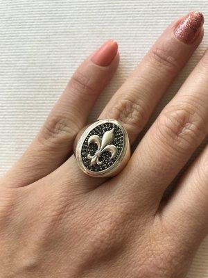 Thomas Sabo Ring zilver-zwart