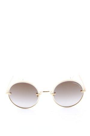 Thomas Sabo runde Sonnenbrille goldfarben-wollweiß Elegant