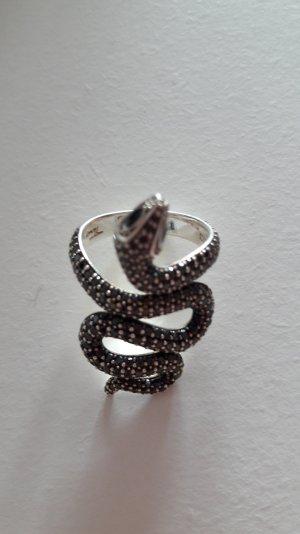 Thomas Sabo Schlangen Ring mit Schwarzen Steinen