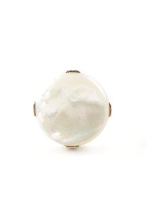 Thomas Sabo Anello d'argento argento-crema modello monogramma scintillante