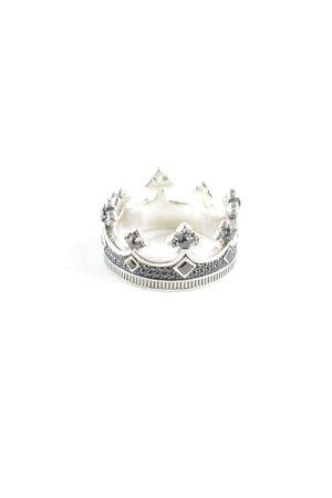 Thomas Sabo Anello d'argento argento-grigio ardesia elegante