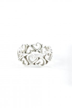 Thomas Sabo Silver Ring silver-colored Herzmuster romantic style
