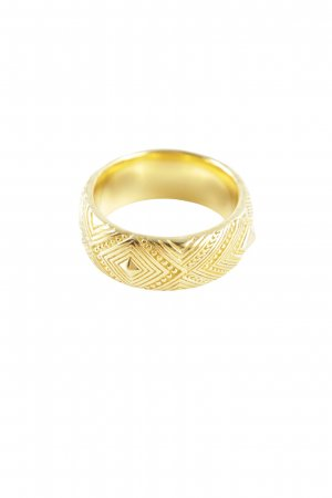 Thomas Sabo Statement Ring gold-colored wet-look