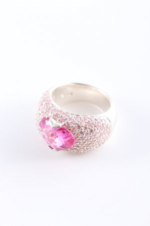 Thomas Sabo Statement Ring pink-silver-colored romantic style