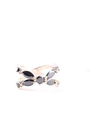 Thomas Sabo Statement ring zwart-zilver extravagante stijl