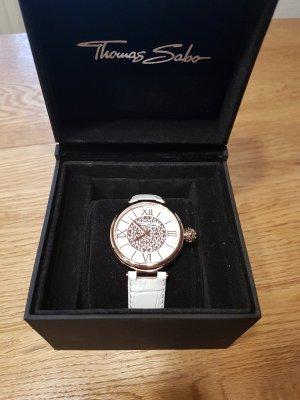 Thomas Sabo Horloge met lederen riempje wit-roségoud