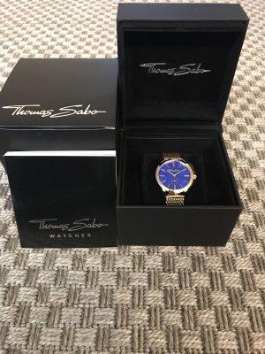 Thomas Sabo Reloj con pulsera metálica color oro-azul