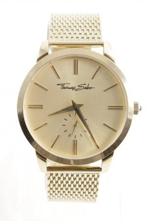 Thomas Sabo Uhr mit Metallband goldfarben Business-Look